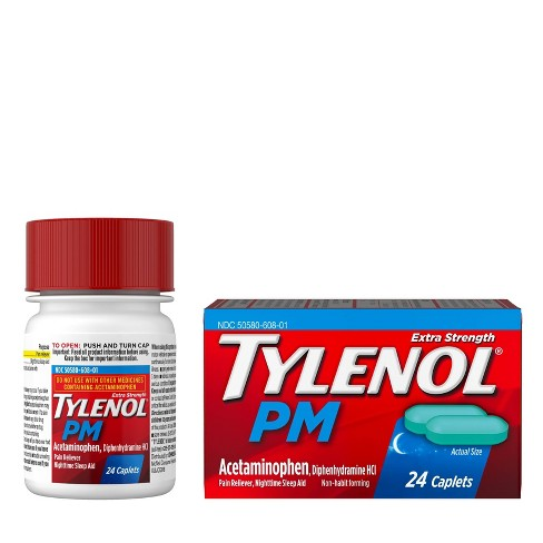 Tylenol PM Extra Strength Pain Reliever & Sleep Aid Caplets - Acetaminophen - image 1 of 4