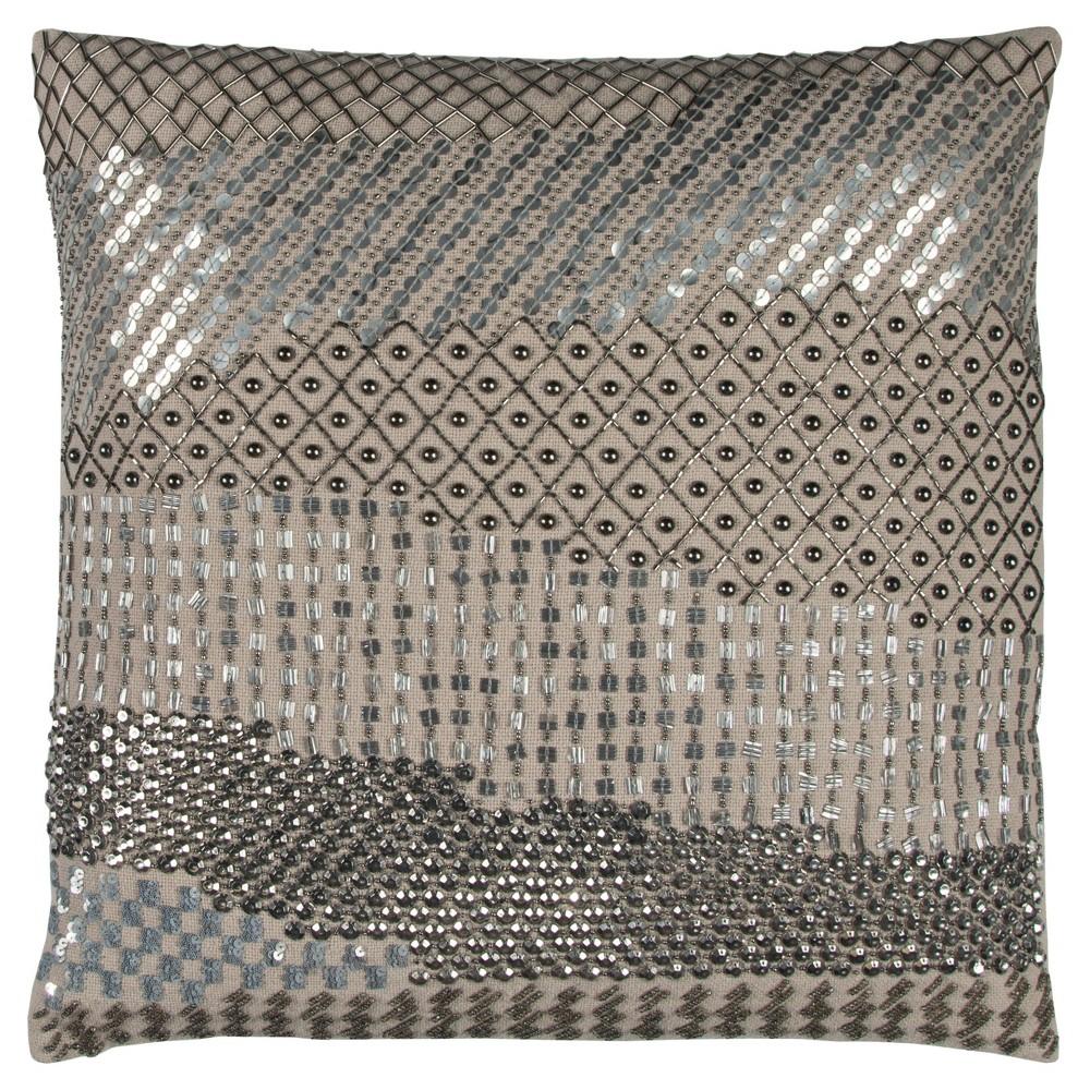 """Image of """"Cotton Throw Pillow (20""""""""x20"""""""") - Rizzy Home, White"""""""