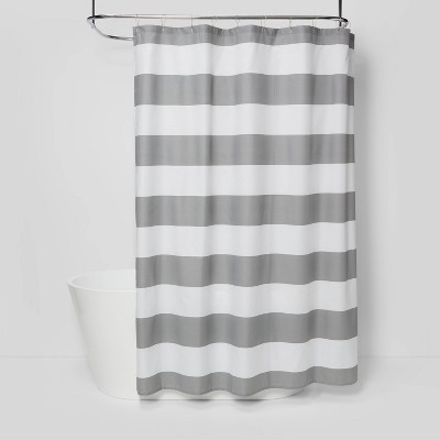 Striped Shower Curtain Gray Mist - Room Essentials™