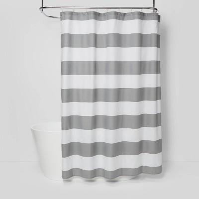 Striped Shower Curtain Gray Mist - Room Essentials™