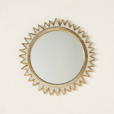 Sun Burst Cast Wall Mirror Brass - Opalhouse™ designed with Jungalow™