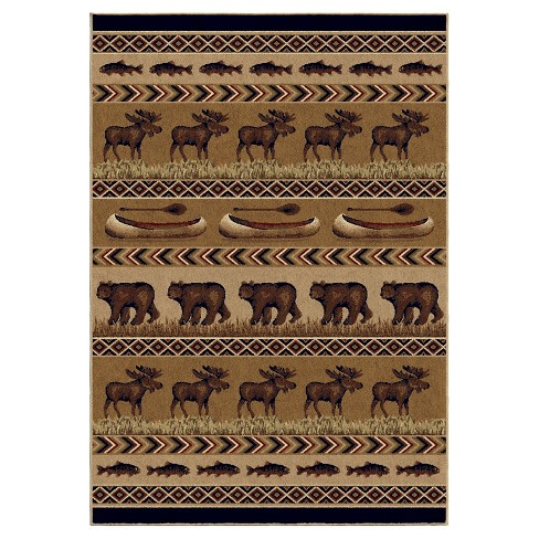 Oregon Trail Brown Rug - Orian - image 1 of 5