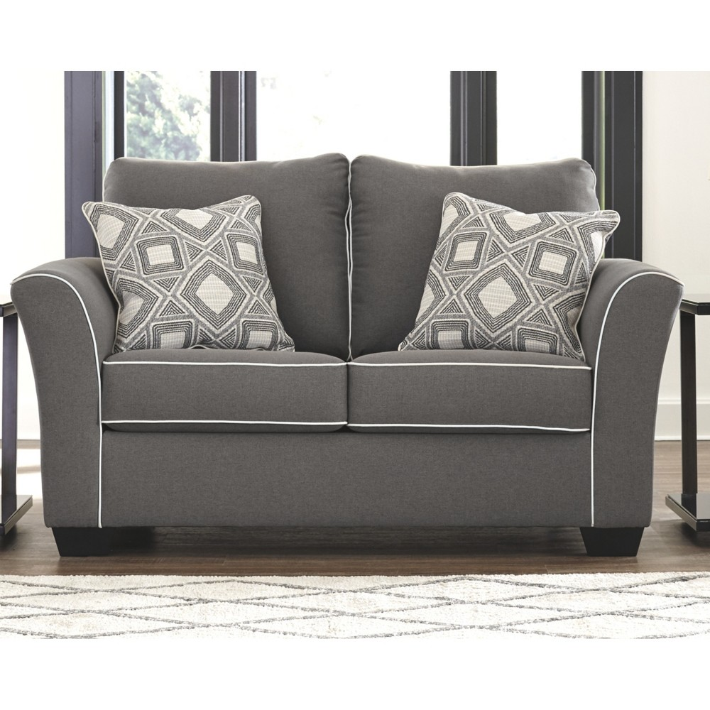 Domani Loveseat Charcoal Heather Gray - Signature Design by Ashley