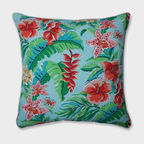 "25"" Tropical Paradise Floor Pillow Blue - Pillow Perfect - image 1 of 1"
