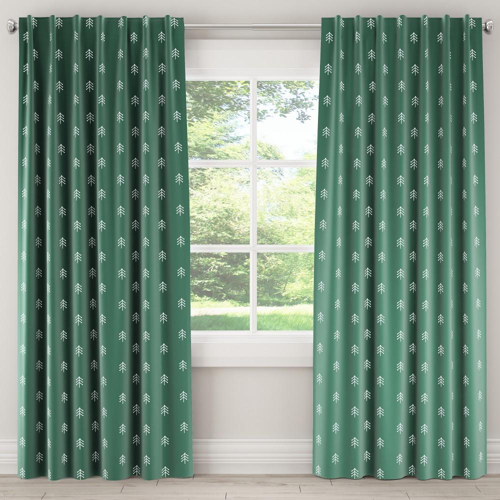 Unlined Curtain Line Tree Evergreen (Green) 84L - Skyline Furniture