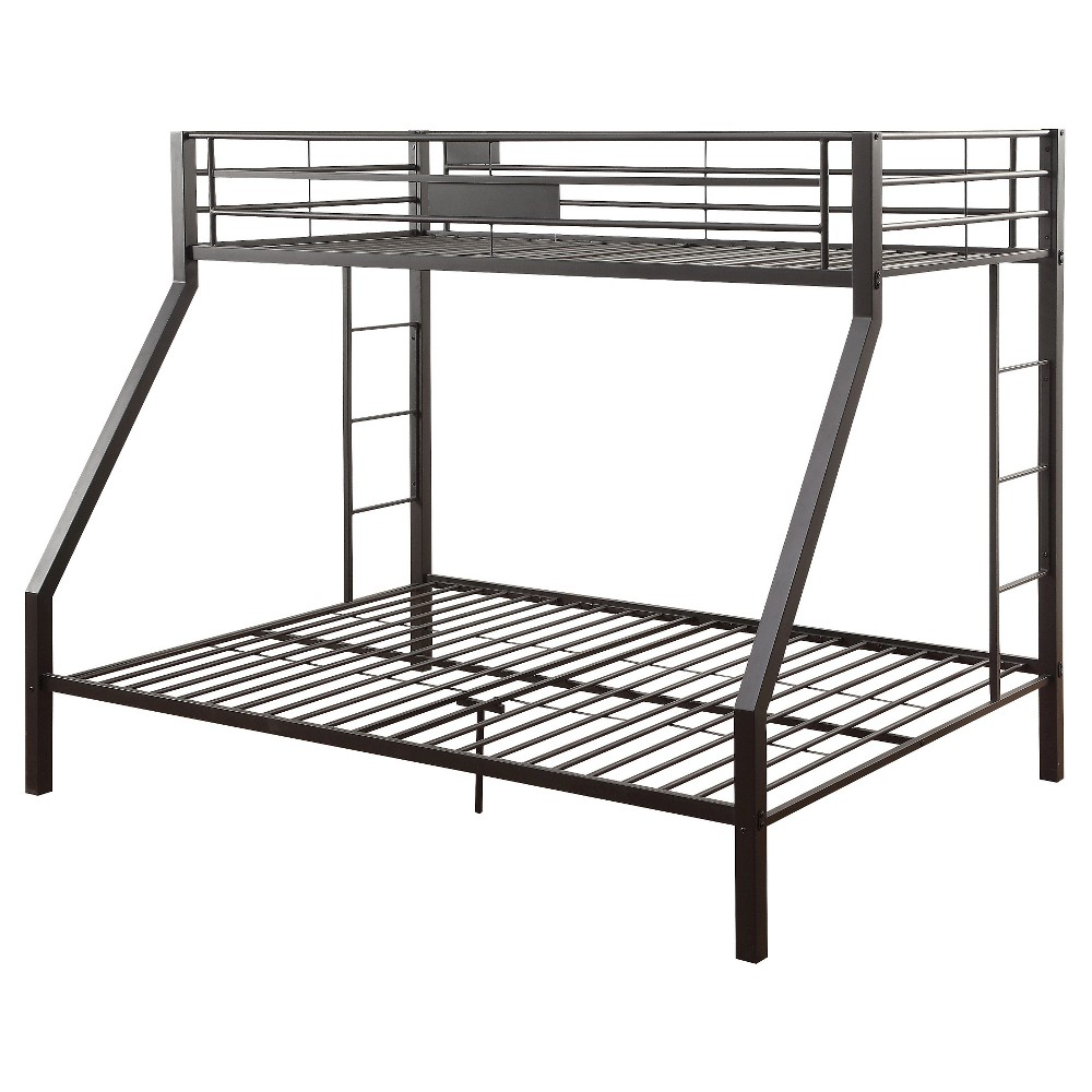 Image of Full/Queen Limbra Kids Bunk Bed Black Sand - Acme Furniture