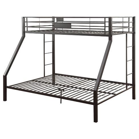 fe3a4d702c99 Limbra Kids Bunk Bed - Black Sand(Twin XL Queen) - Acme   Target