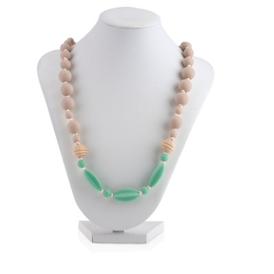 Nuby Silicone Teething Necklace - Nude/Green