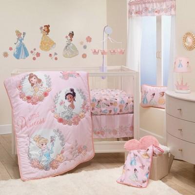 Lambs & Ivy Disney Baby Princesses Crib Bedding Set - 3pc