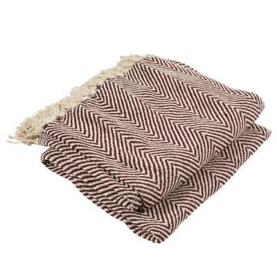 Harlow Throw Blanket Burgundy - Safavieh