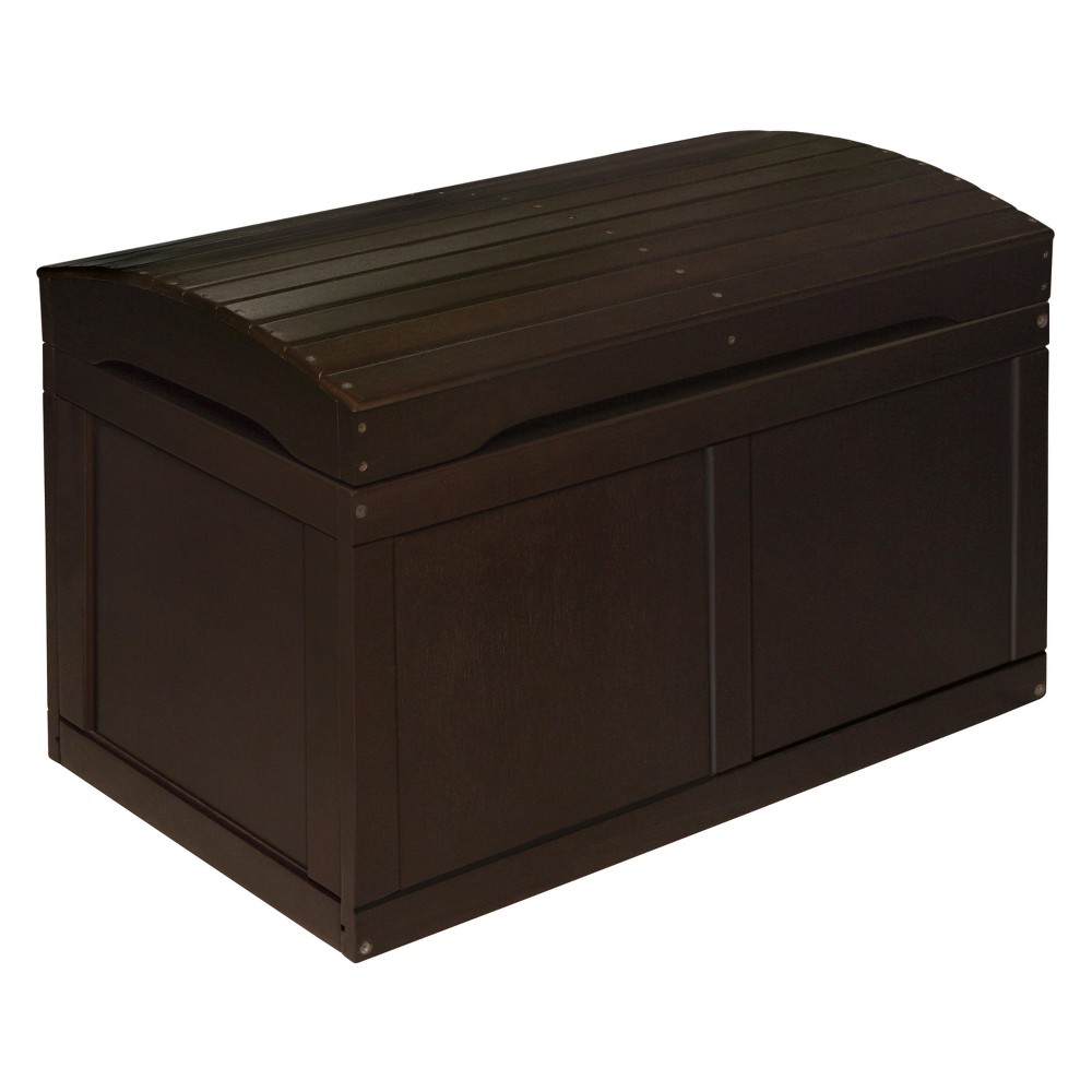 Badger Basket Hardwood Barrel Top Toy Chest Espresso (Brown)