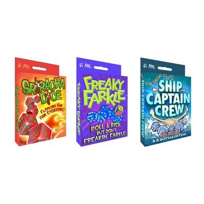 Dice Game Pack Trio - Freaky Farkle, Sriracha Dice, Ship Captain Crew