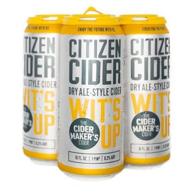 Citizen Wit's Up Hard Cider - 4pk/16 fl oz Cans