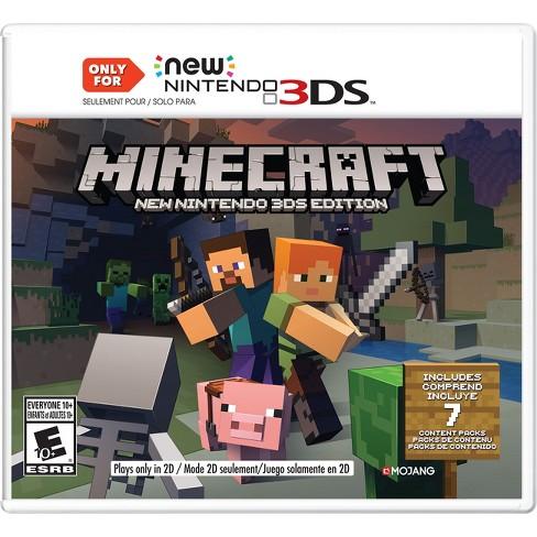 minecraft new nintendo 3ds edition nintendo 3ds target