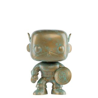 Funko POP! Marvel: Marvel 80th - Captain America (Patina) (Target Exclusive)