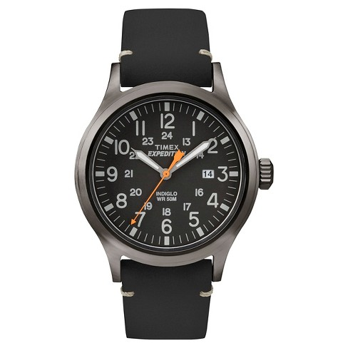 Men's Timex Expedition Scout Watch with Leather Strap - Gray/Black TW4B01900JT - image 1 of 3