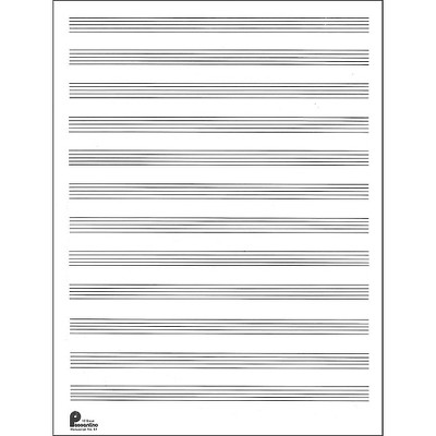 Music Sales Passantino Manuscript Paper Old #51, 12 Stave, 80 Pages, 9X12