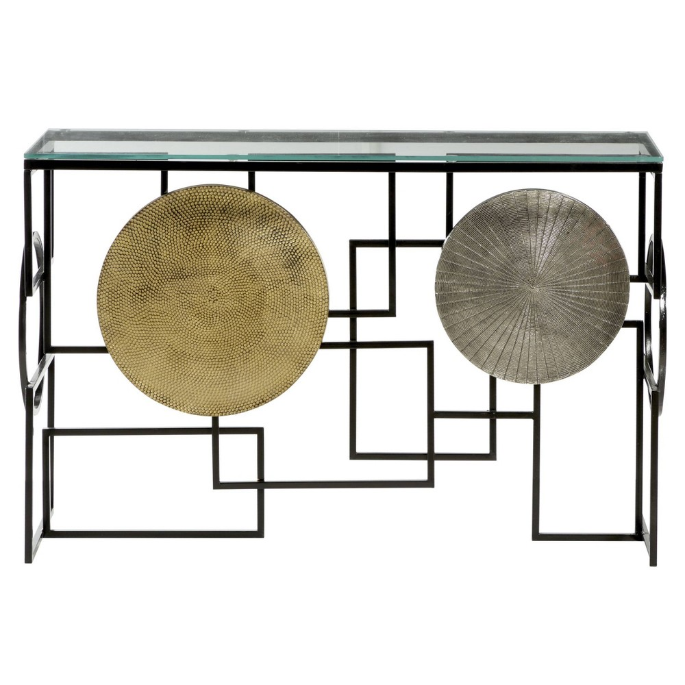 Modern Metal Console Table With Gold Silver Venus Williams Collection