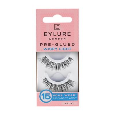 Eylure False Eyelashes Pre-Glued Wispy Light No. 117- 1pr