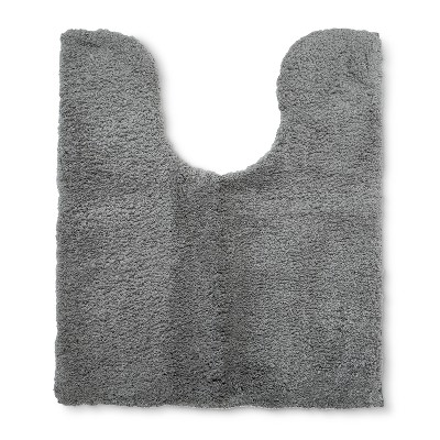 Tufted Spa Contour Bath Rug Gray - Fieldcrest®