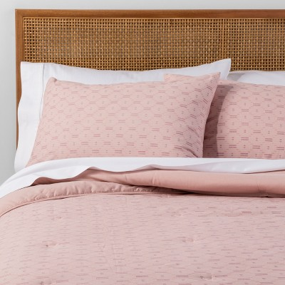Blush Printed Dobby Comforter Set (Full/Queen)3pc - Opalhouse™