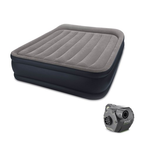 Intex Deluxe Raised Air Bed Mattress w/ Built In Pump, Queen & Cordless Pump - image 1 of 4