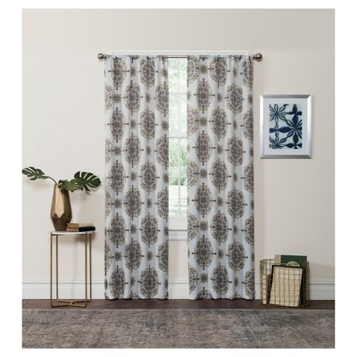 Olivia Thermaweave Blackout Curtain Panel - Eclipse