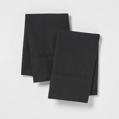 King 300 Thread Count Ultra Soft Pillowcase Black 300 - Threshold™
