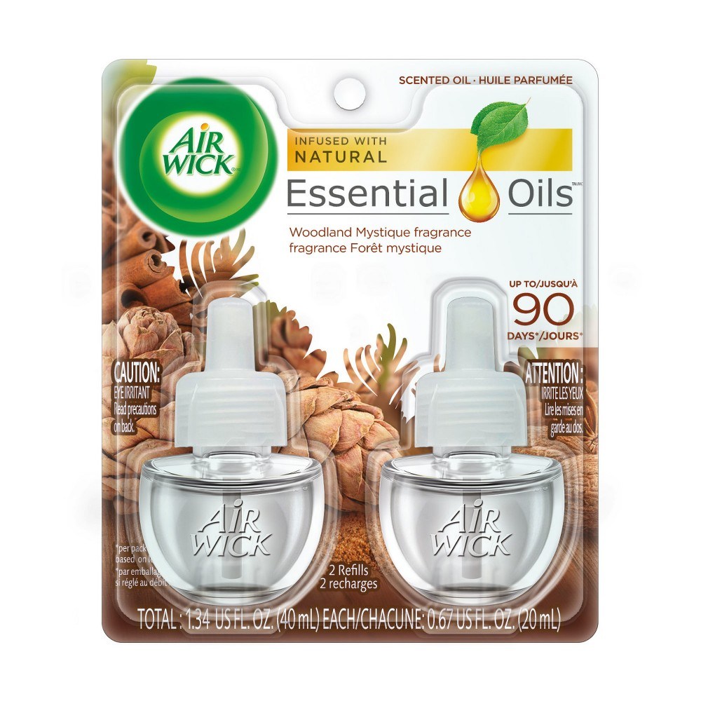 Image of Air Wick Scented Oil Woodland Mystique Air Freshener Refill - 0.67oz/2ct, Multi-Colored