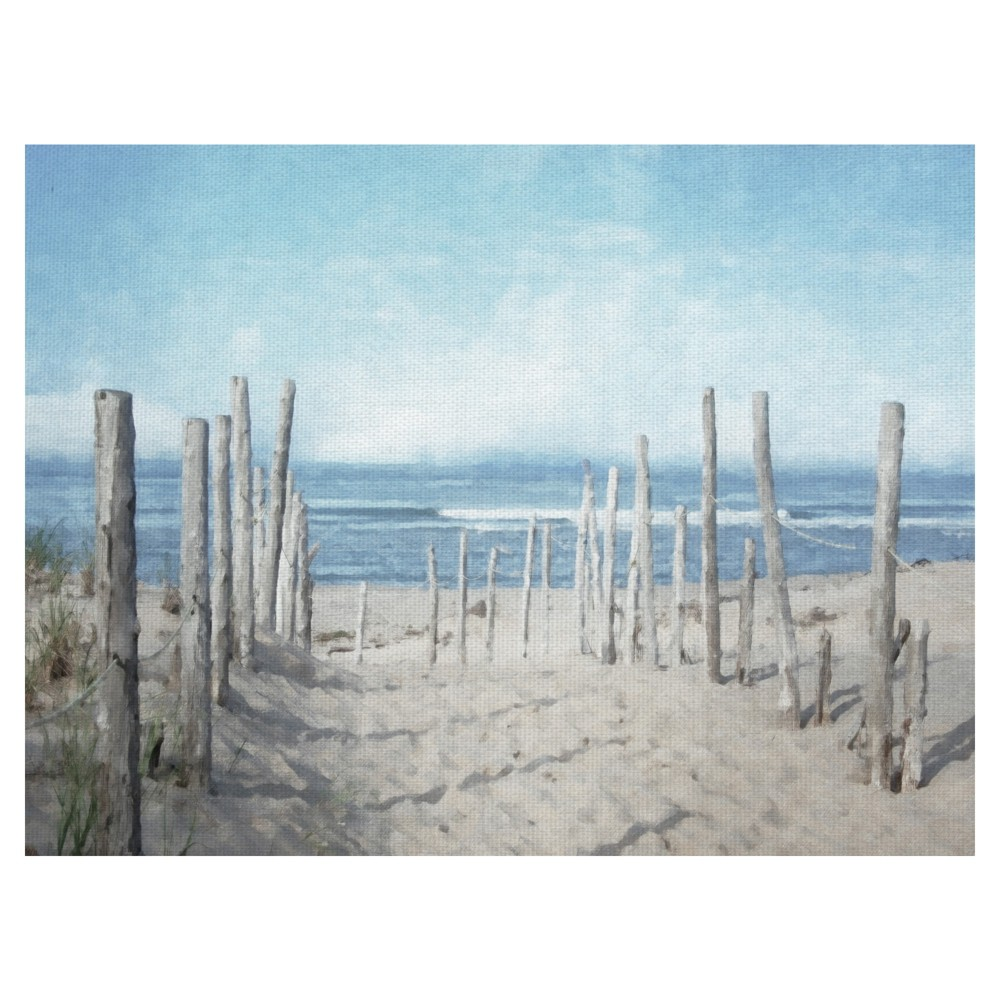 """Image of """"30""""""""x40"""""""" Seashore Vista Light By Graffiti Studios Art On Canvas - Fine Art Canvas, Multi-Colored"""""""