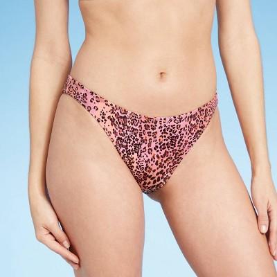 Women's High Leg Extra Cheeky Bikini Bottom - Shade & Shore™ Animal Print
