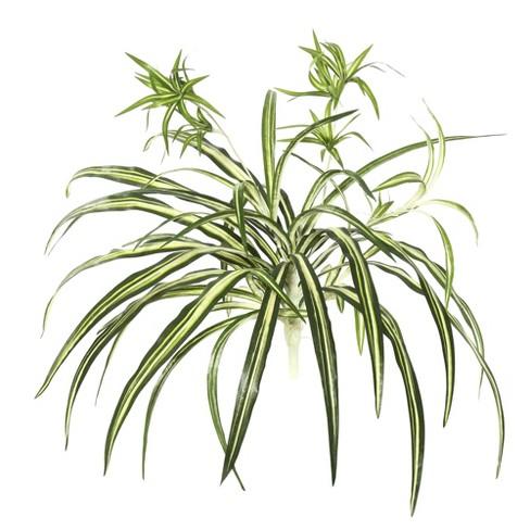 "Vickerman 24"" Artificial Green Spider Plant. - image 1 of 1"