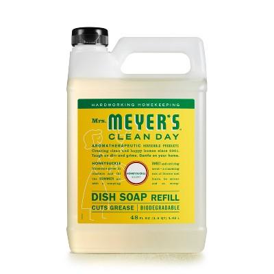 Mrs. Meyer's Clean Day Honeysuckle Scent Dish Soap Refill - 48 fl oz