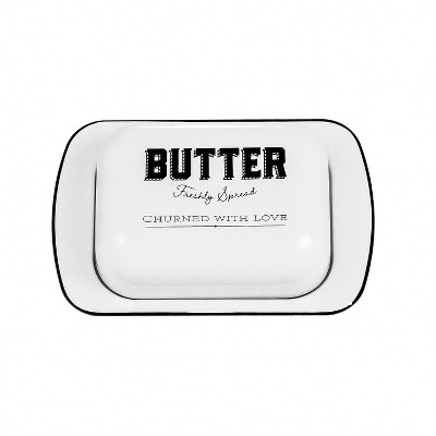 Amici Home Country Cottage Metal Butter Dish