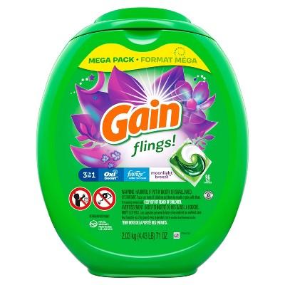 Gain flings! Moonlight Breeze Liquid Laundry Detergent Pacs - 96ct
