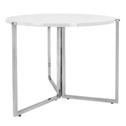 SpaceMaster Radiant Modern Space Saving Circular Articulated Panel Folding Table