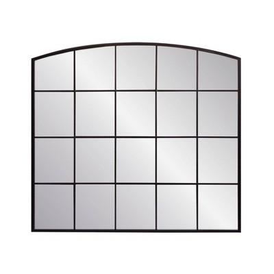 "33"" x 30"" Mantle Pane Stamped Metal Decorative Wall Mirror - Threshold™"