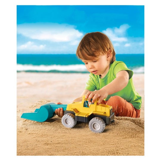 Playmobil Excavator, mini figures image number null