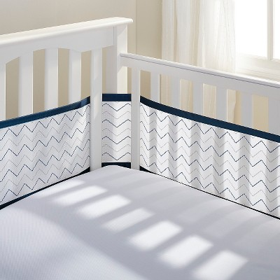 Breathable Baby® Chevron Mesh Liner - Navy
