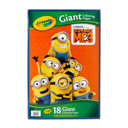 Crayola Giant Coloring Pages Despicable Me 3 Gift For Kids 18pg