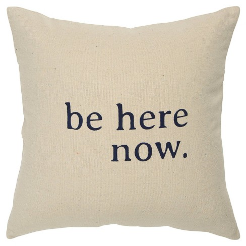"""""""Be Here Now"""" Poly Filled Pillow Black - Rizzy Home - image 1 of 4"""