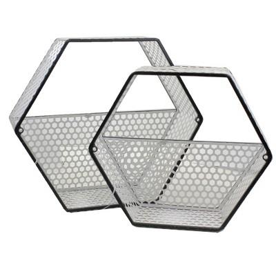 "Home Decor 12.25"" Honey Comb Wall Planter Set/2 Hexagon Rustic  -  Planters"