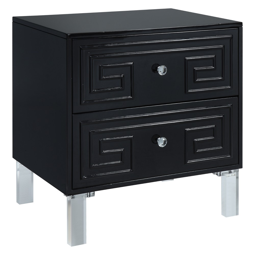 Babin Contemporary Side Table Black Homes Inside Out