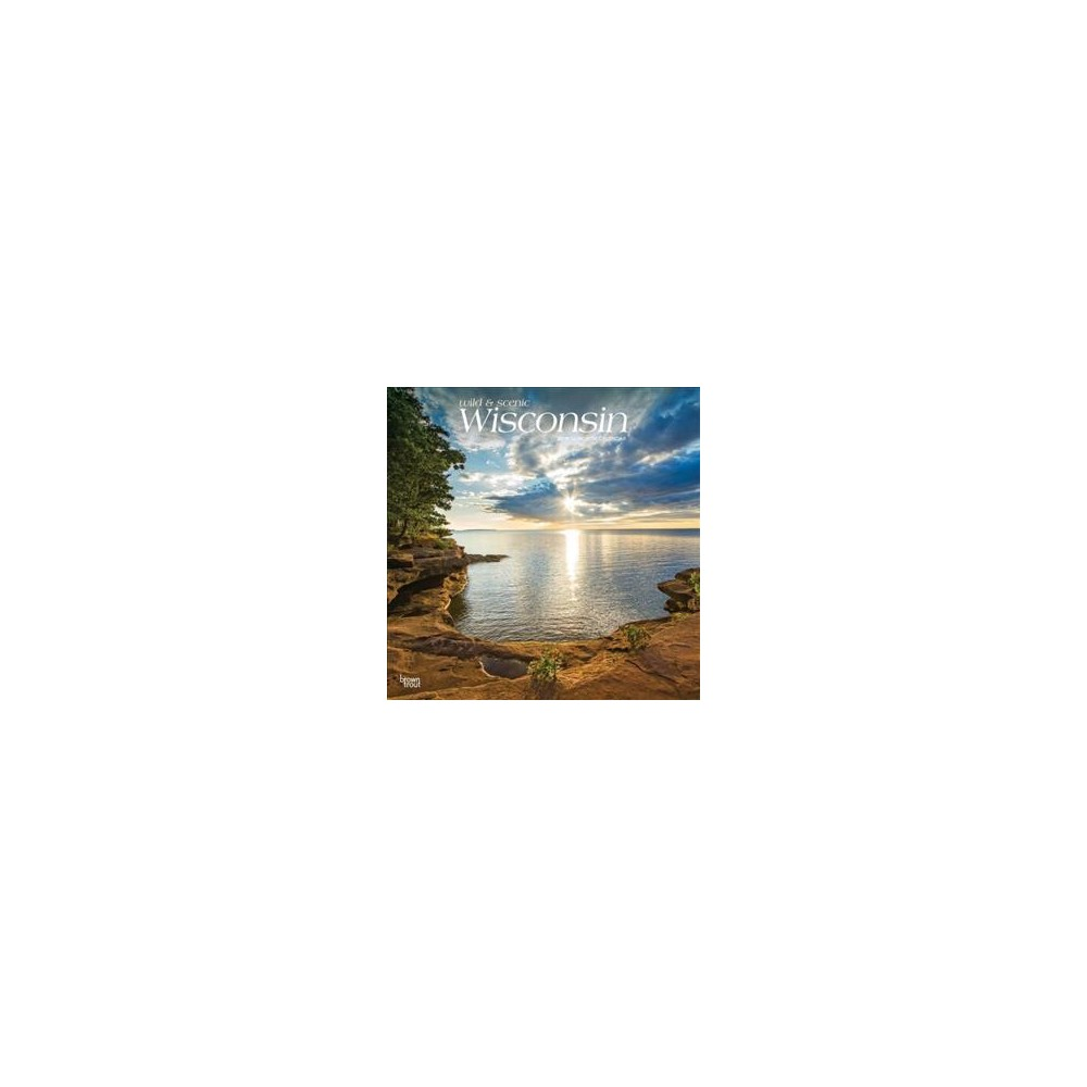 Wisconsin, Wild & Scenic 2019 Calendar - (Paperback)