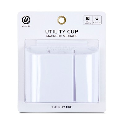 U Brands Utility Cup Magnetic Storage GRUV White