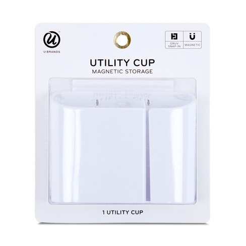 U Brands Utility Cup Magnetic Storage GRUV White - image 1 of 4