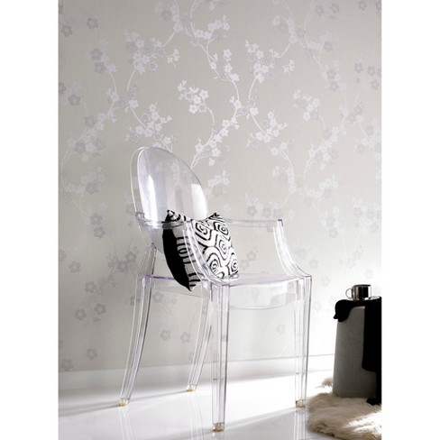 Graham & Brown Cherry Blossom Wallpaper - White Mica - image 1 of 1