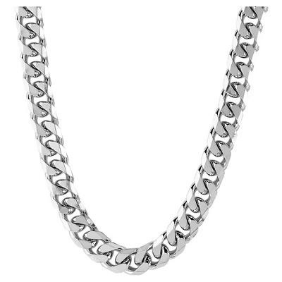 Men's West Coast Jewelry Stainless Steel Beveled Cuban Link Chain (6.5mm)