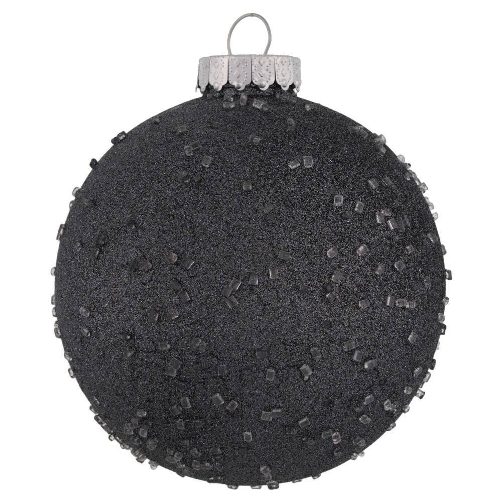"Image of ""4ct Vickerman 6"""" Ornament Ball Pewter Ice"""