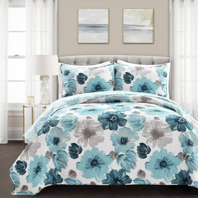 3pc Leah Quilt  Set - Lush Décor